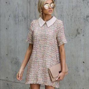 Tweed Ever After romantic sheath dress sz M